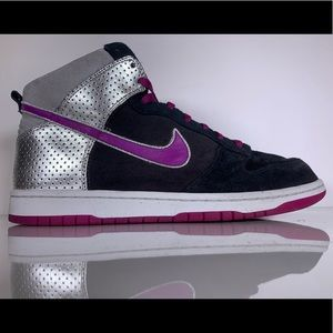Nike Dunk High Premium Black Red Plum Anthracite